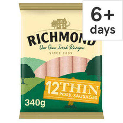 Picture of Richmond 12 Thin Pork Sausages 340G