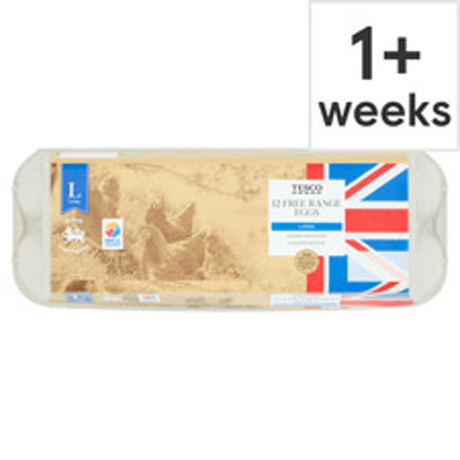 Picture of Tesco Large Free Range Eggs 12 Pack