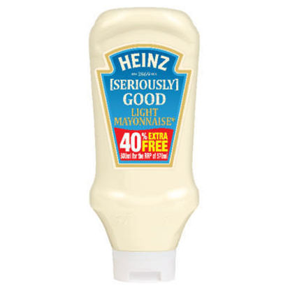 Picture of Heinz Seriously Good Light Mayonnaise 540g plus 40% Extra Free