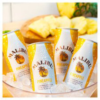 Picture of Malibu Coconut Rum & Pineapple 250Ml Can