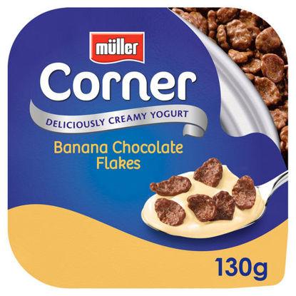 Picture of Muller Corner Banana Yogurt Chocolate Flakes 130G