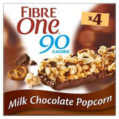Picture of Fibre One Milk Chocolate Popcorn Bars 4 X 21G