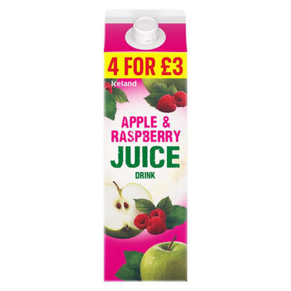 Picture of Iceland Apple & Raspberry Juice Drink 1l