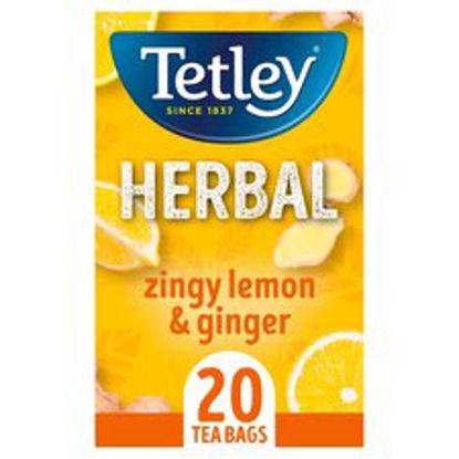 Picture of Tetley Zingy Lemon & Ginger 20 Tea Bags 40G