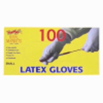 Picture of ROYAL LATEX POWDERED100 GLOVES SMALL (sp)