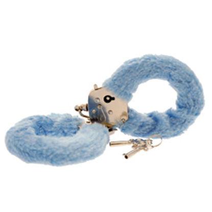 Picture of Toy Joy Furry Fun Hand Cuffs Pale Blue Plush