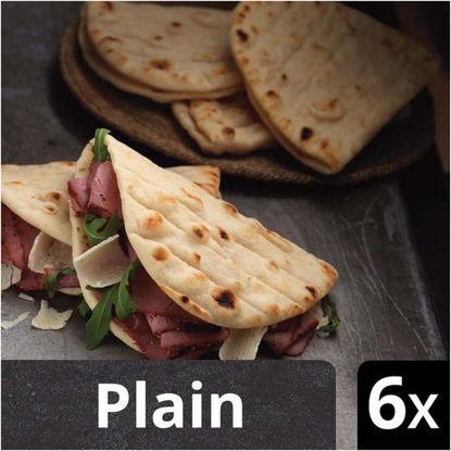 Picture of Iceland Luxury 6 Plain Folded Flatbreads 210g