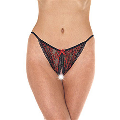 Picture of Red And Black Tanga Open Brief