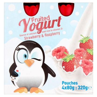 Picture of Fruited Yogurt Strawberry & Raspberry 4x80g (320g)