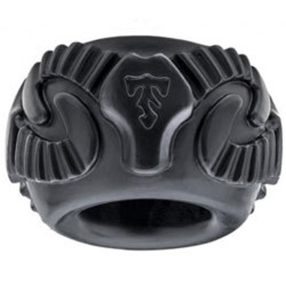 Picture of Perfect Fit Tribal Son Ram Ring Black