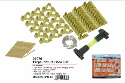 Picture of Brass Picture Hook Set - 18 Piece