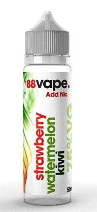 Picture of 88 Vape Shortfill E Liquid - Strawberry Watermelon Kiwi - 75% Vg - 50Ml