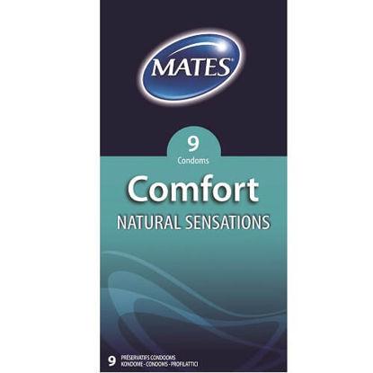 Picture of Mates Comfort Natural Sensations Condoms 9 Pack