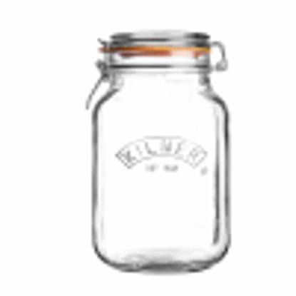 Picture of Kilner Square Clip Top Jar 2ltr | Kilner Preservation Jar, Kilner Storage Jar, Kilner Jam Jar with Cliptop Lid