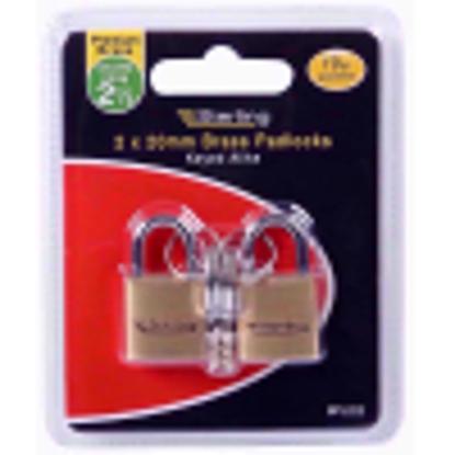 Picture of Sterling BPL222 2 x 20mm Single Locking Brass Padlock