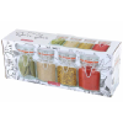 Picture of Apollo Clipseal Spice Jars - Pack of 4