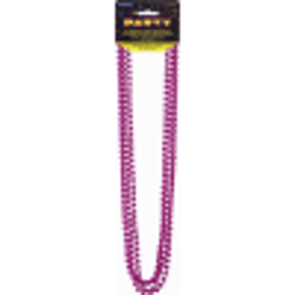 Picture of Metallic Hot Pink Bead Necklaces, Pack of 4