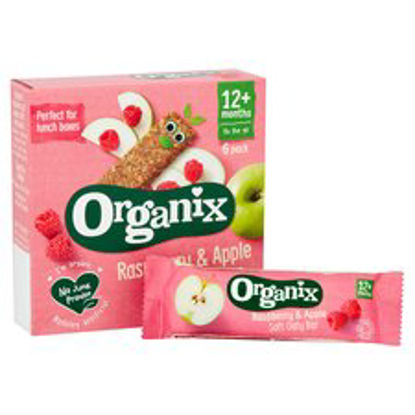 Picture of Organix 12 Month Apple & Raspberry Fruit & Cereal Bar 6X30g