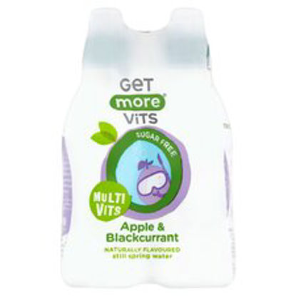 Picture of Get More Vitamins Apple & Blackcurrant Water 4X330ml