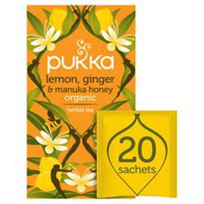 Picture of Pukka Organic Lemon & Ginger With Honey 20 Tea Bags 40G