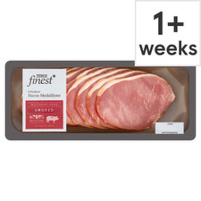 Picture of Tesco Finest 8 Smoked Bacon Medallions 200G