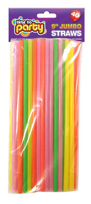 Picture of TIME TO PARTY JUMBO STRAW 40PC