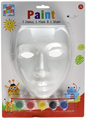 Picture of Anker Kids Create Arts and Crafts Paint Your Own Mask, Plastic, Assorted Colour