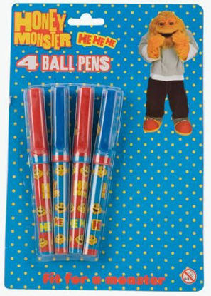 Picture of Honey Monster Quality Ball Pens - Pack of 4