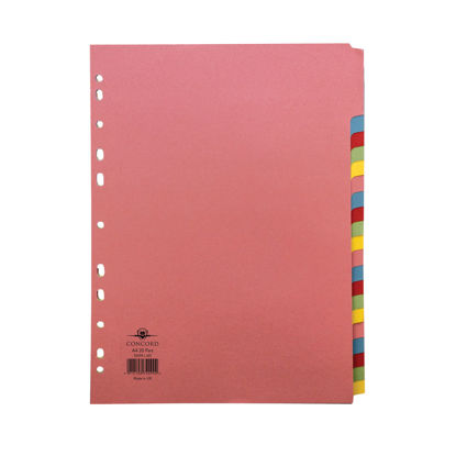 Picture of Concord Divider 20-Part A4 160gsm Multicoloured 74099/J40