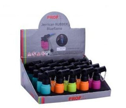 Picture of Prof Jerrican Rubber Blueflame Lighter - Assorted Colours