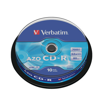 Picture of Verbatim CD-R Datalife Non-AZO 52x 700MB (Pack of 10) 43437