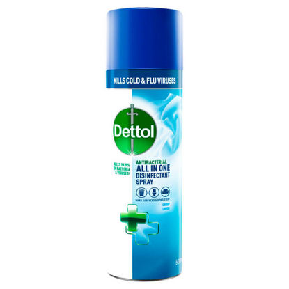 Picture of Dettol Antibacterial All in One Disinfectant Spray Crisp Linen 500ml