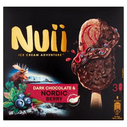 Picture of Nuii Dark Chocolate & Berry Ice Cream Sticks 3X90ml