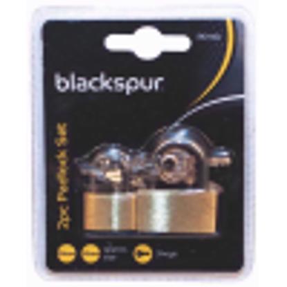 Picture of BLACKSPUR BB-PD110 2PC PADLOCK SET - 20MM & 30MM