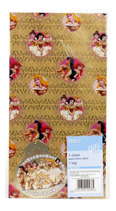 Picture of Disney Princess Gift Foil Wrapping Paper & Tag