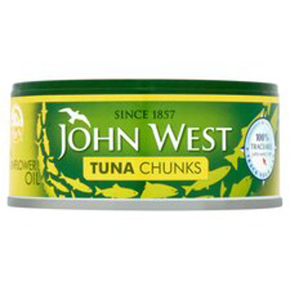 Picture of John West Foods Tuna Chunks In Sunflower Oil 145G