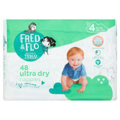Picture of Fred & Flo 48 Ultra Dry Nappies Size 4