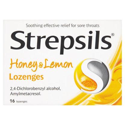 Picture of Strepsils Honey And Lemon 16S