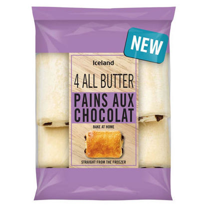 Picture of Iceland 4 All Butter Pains Aux Chocolat 306g