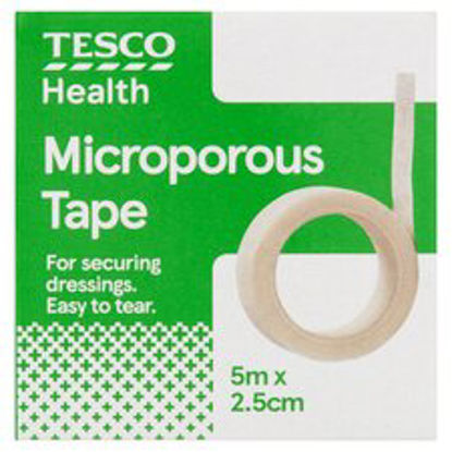 Picture of Tesco Microporous Tape 5Mx2.5Cm