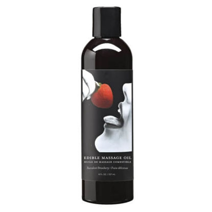 Picture of Earthly Body Edible Massage Oil-Strawberry