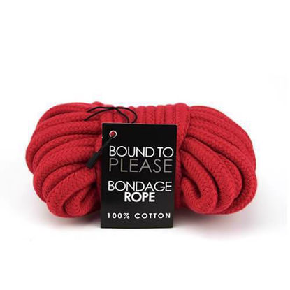 Picture of Bound to Please Bondage Rope Red