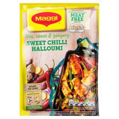 Picture of Maggi Meat Free Sweet Chilli Halloumi Recipe Mix 44G