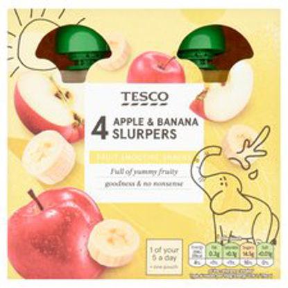 Picture of Tesco Apple & Banana Fruit Slurpers 4X90g