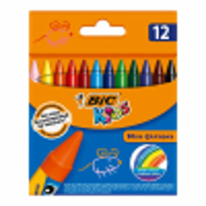 Picture of BIC WAX CRAYONS PK12