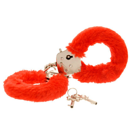 Picture of Toy Joy Furry Fun Hand Cuffs Red Plush