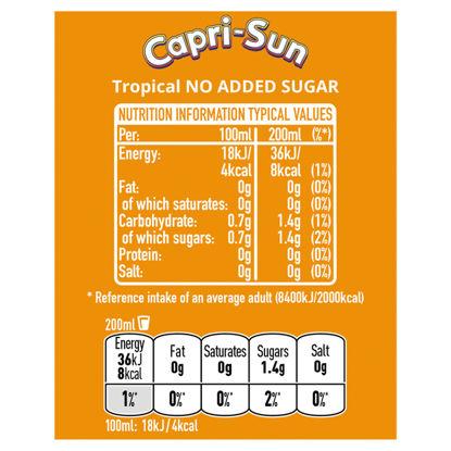 Picture of Capri Sun No Added Sugar Tropical 8X200ml