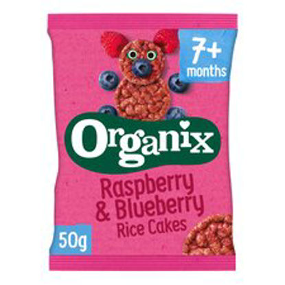 Picture of Organix 7 Month Rice Cakes Raspberry & Blueberry 50G