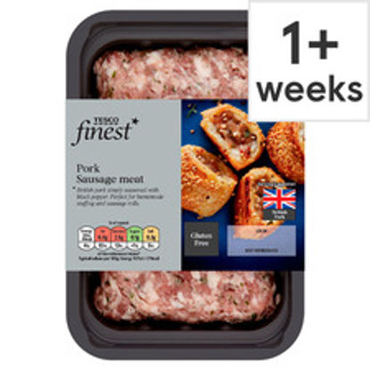Picture of Tesco Finest British Pork Sausages Meat 350G