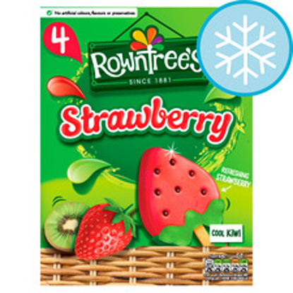 Picture of Rowntrees Strawberry Lollies 4X73ml